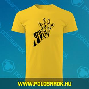 99586d908e Zsiráf - unisex kereknyakú pamut póló - Sárga