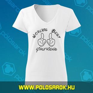 f7a6af89bb Girlfriend - unisex kereknyakú pamut póló - Fehér