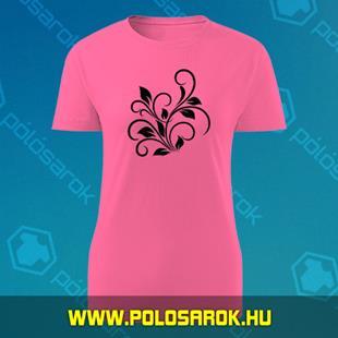 154a038577 Virág 2 - unisex kereknyakú pamut póló - Pink