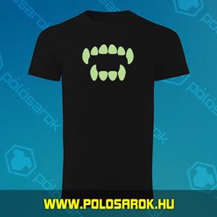 8b9d92c753 Vámpírfog - unisex kereknyakú pamut póló - Fekete