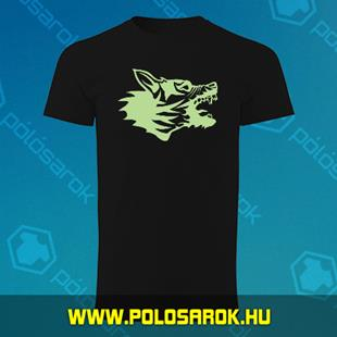 dd3b8408a2 Veszett kutya - unisex kereknyakú pamut póló - Fekete
