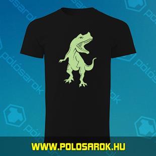 13c99806ec Dínó - unisex kereknyakú pamut póló - Fekete
